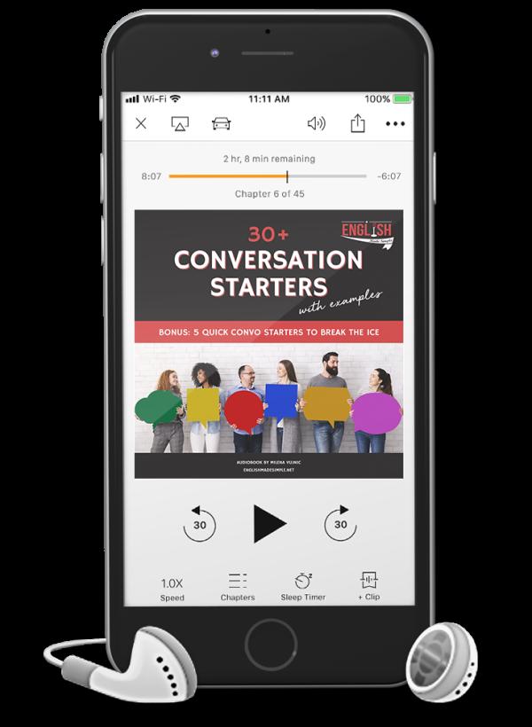 Audiobook conversation starters
